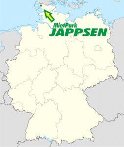 Deutschlandkarte mit Sitz