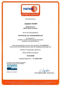 Partnerlift Qualitätscheck 2027, Mietpark Jappsen GmbH